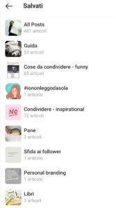 Guide Instagram - post salvati